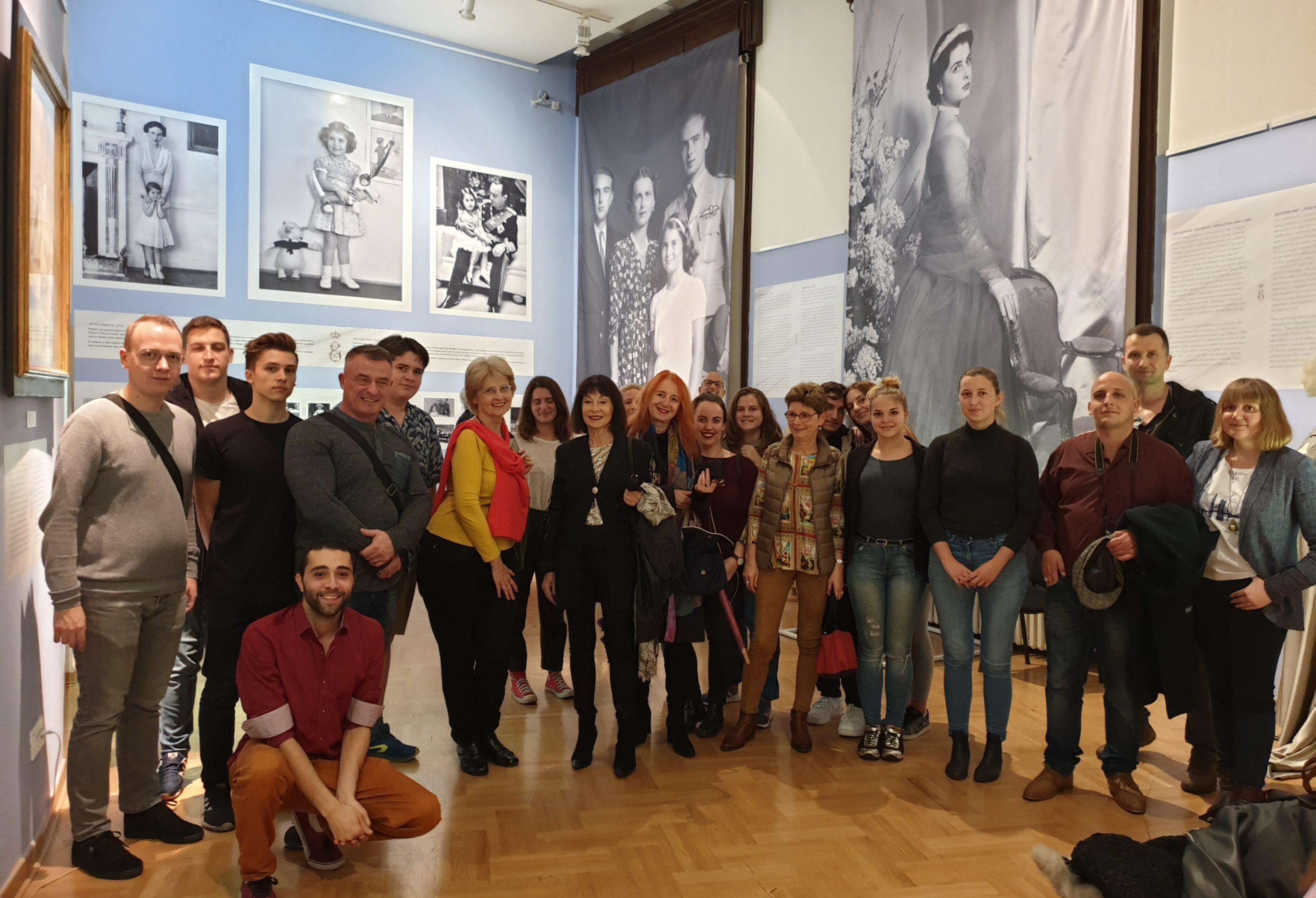 Le groupe du Solidarity Tour en visite au Musée de l'Histoire de la Serbie.